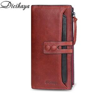 Image 1 - Dicihayaブランド財布女性レザーの女性の財布高品質の女性のクラッチ財布ロング女性の財布carteira feminina