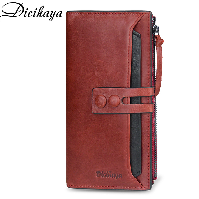 Dicihayaブランド財布女性レザーの女性の財布高品質の女性のクラッチ財布ロング女性の財布carteira feminina