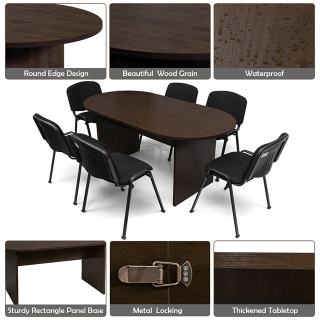 """69"""" x 35"""" Oval Conference Table 4"""