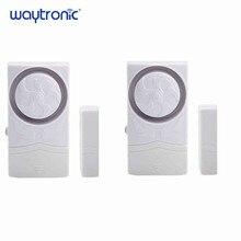 Sensor magnético inalámbrico para puerta, Alarma para puerta y ventana, Kit de alarma de cierre abierto para refrigerador de supermercado, tienda de conveniencia