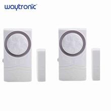 Wireless Tür Magnetic Sensor Alarm Tür und Fenster Öffnen Schließen Erinnerung Alarm Kit für Supermarkt Bequemlichkeit Store Kühlschrank