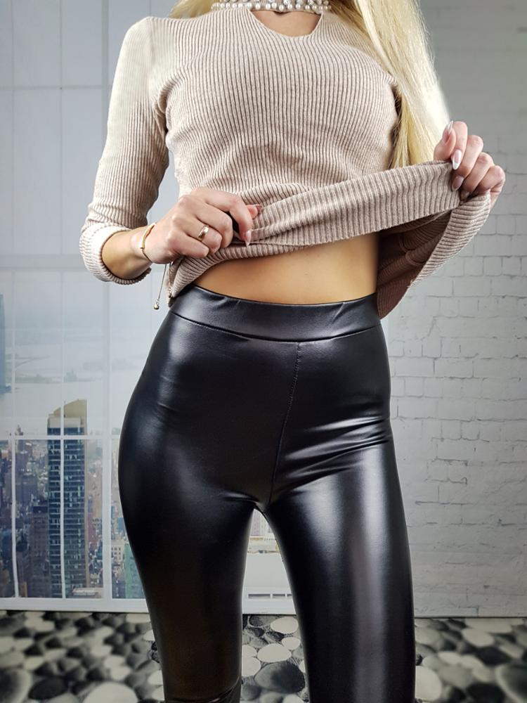 Hd9839c6f79d34527bbf06eb035a5bfffT - Winter Leather Pants For Women Gold Fleeces Warm Thicken Pencil Pants High Waist PU Skinny Leggings Female Fall Trousers P9108