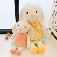 New Style Creative Strawberry Pineapple Rabbit Doll Fruit Pigskin Plush Toys Crane Machines Doll for a Girlfriend