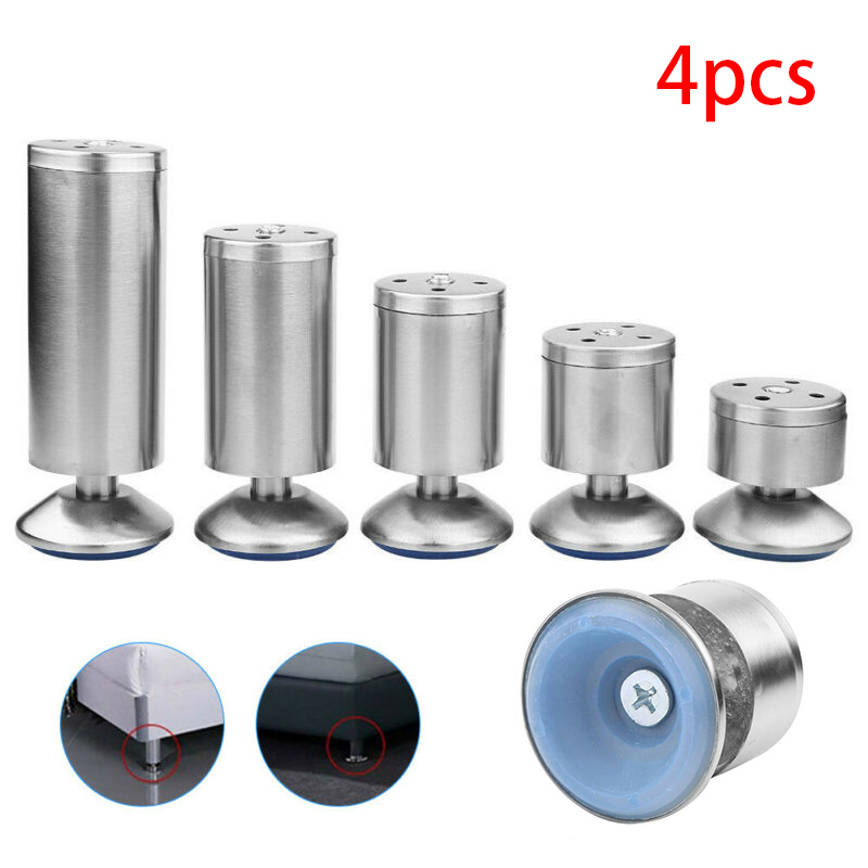 High Quality 4PC Furniture Legs Stainless Steel Furniture Accessories For Sofa Beds Cupboard Cabinets Furniture Stand