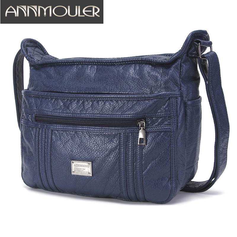 Large Soft Bag Casual Women Bag Purse Wash Pu Leather Shoulder Bag Handbag Adjustable Women Pocket Bag Ladies Messenger Bag