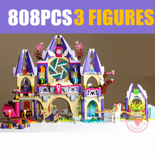 New Skyras Mysterious Sky Castle Fit Legoings Fairy Elves Figures Friends Building Blocks Tale Girl Toy Gift Kid Birthday