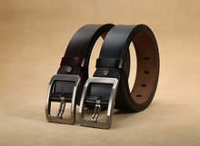 лучшая цена New 100% Cowhide Genuine Leather Belts for Men Brand Strap Male Pin Buckle Fancy Vintage Cowboy Jeans Cintos Freeshipping