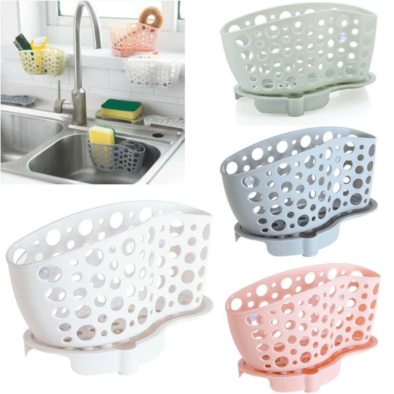 Cratone Hanging Drain Bag Holder Sink Caddy Organizer with Adjustable Strap Storage Basket for Kitchen Bathroom