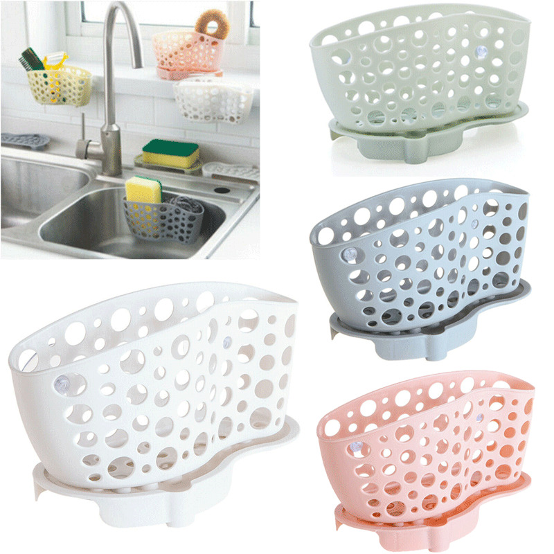 Kitchen Organiser Sink Shelf Hanging Basket Dish Cleaning Sponge Holder Scrubber Bathroom Holder Storage Kitchen Accessories