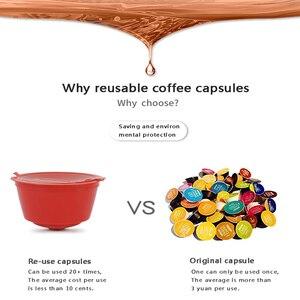 Image 2 - Nespresso 1/2/3 Pcs Koffie Capsule Nestle Dolce Gusto Capsule Herbruikbare Koffie Filter Capsule Machine Hervulbare Cafe capsula