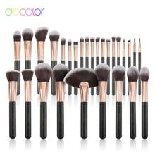 Docolor Rose Gold Makeup brushes set professional Synthetic Hair Foundation Powder Eyeshadow Make up Brush Blush