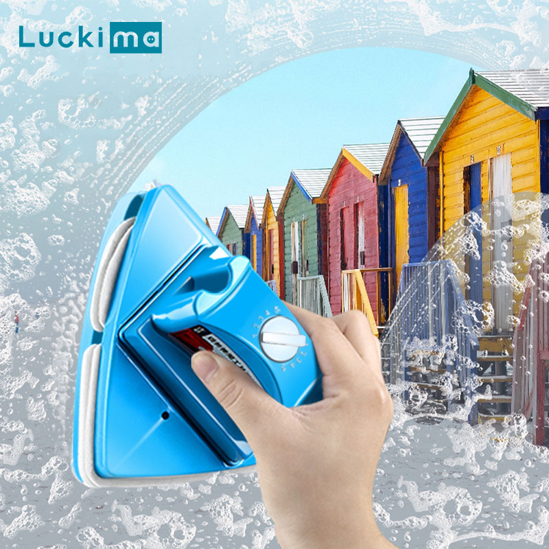 Adjustable Magnetic Windows Cleaner Double Side Glass Wiper Cleaning Brush Tool For Washing Home Office 4-32mm Windows Glass