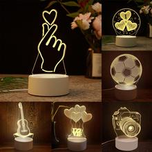 Creative 3D LED Night Lights Novelty Illusion Night Lamp 3D LED Table Lamp For Home Decorative Light Gift for Girl friend Kids