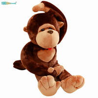 80 110cm Soft Stuffed Animal Dolls Monkey Plush Toys kids Playmate birthday Gift 100% Cotton