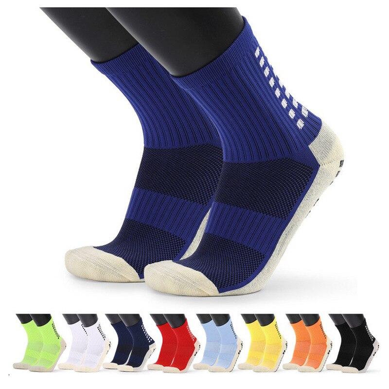 Новые противоскользящие футбольные носки, мужские спортивные носки, хлопковые носки хорошего качества того же типа, что и Trusox, 11 цветов