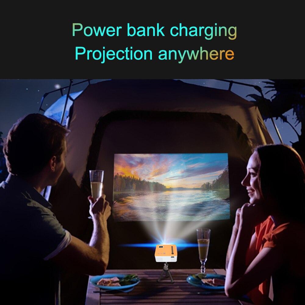 Unic uc28d mini projetor led portátil casa usb telefone móvel 10 ansi 480*272 tf cartão av 5v 2a u disco dvd caixa de tv 3.5mm-3