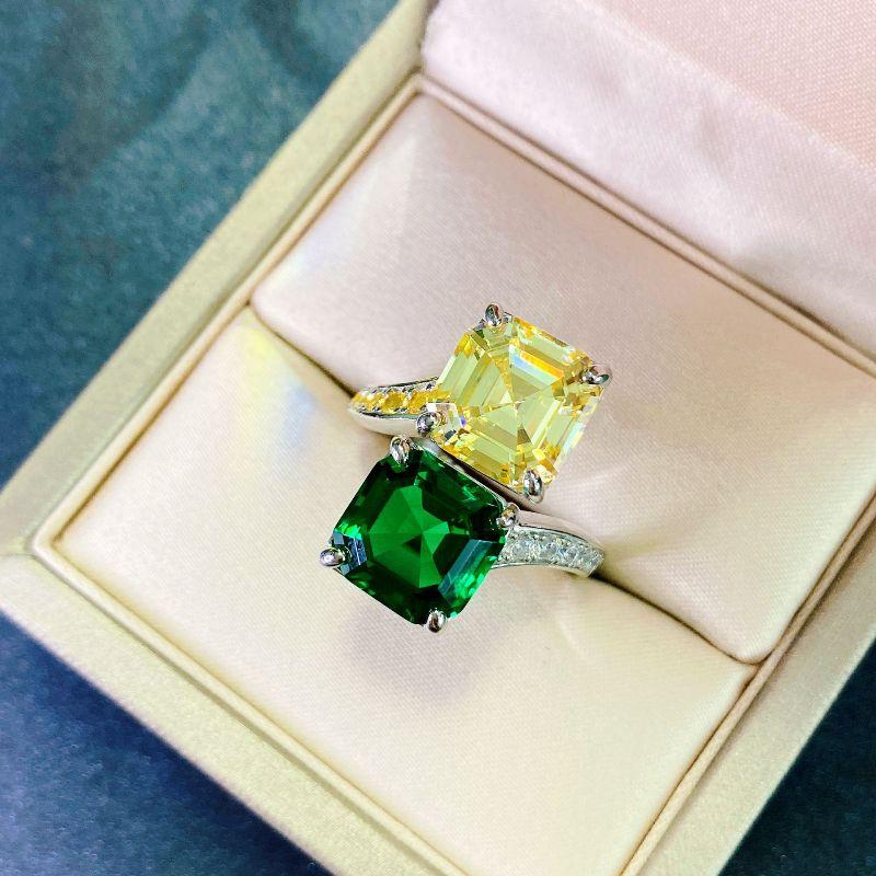 Женское открытое обручальное кольцо из серебра 925 пробы, со сверкающими двойными бриллиантами