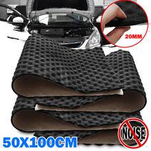 3X 50*100cm 20mm Auto Sound Heißer Deadener Matte Lärm Beweis Motorhaube Isolierung Trittschalldämmung Haube Motor Wärme schaum Baumwolle Aufkleber