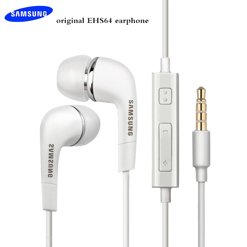 Original Samsung Earphone 3.5MM Stereo EHS64 IN-EAR Earbuds With Mic/Remote Control For Galaxy S6 S7 S8 S9 S10 A30 A50 A70