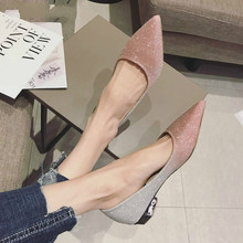 2020 New est Spring Autumn Women Shoes Pointed Toe Ballet Flats Fashion Sequined Cloth Slip on Ladies Flat Shoes Zapatos Mujer suojialun 2019 spring women flats pointed toe slip on ballet flat shoes shallow boat shoes woman loafer ladies shoes zapatos