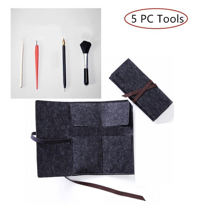 5PC Enchanted Scratch Painting Kits Tools DIY Scratch Painting Craft Adult professional tools scraper pen brush knife