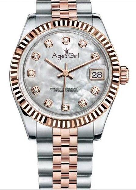 Luxury Brand New Stainless Steel Sapphire Watch Women Lady Automatic Mechanical Diamond Silver Gold White Datejust 36mm