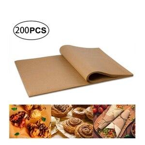 200 pces 12x16 polegadas, folhas de cozimento de papel de pergaminho antiaderente de 8x12 polegadas perfeitas para assar grelhar e cozinhar e mais