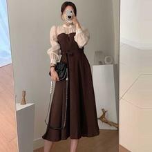 Элегантное женское односекционное платье корейское сращивающееся