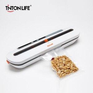 Image 1 - Tinton vida aferidor do vácuo de alimentos máquina de embalagem com 10 pçs sacos de vácuo livre máquina seladora a vácuo aferidor do vácuo empacotador