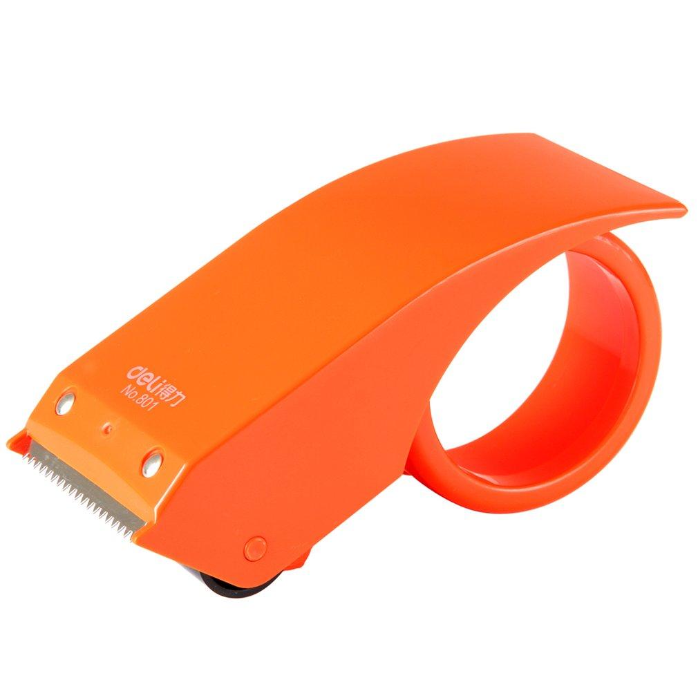 Deli 801 Tape Dispenser Manual Sealing Device Tape Cutter Baler Carton Sealer Width 48mm Packager Cutting Machine  DropShipping