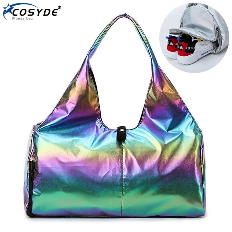 Waterproof Fitness Sport Bag Big Yoga Mat Bag Travel Bags Ladies Workout Hand Luggage Organizer Training Gym Bag For Women