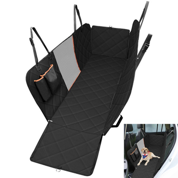 Dog Car Seat Cover  Waterproof Pet Dog Travel Mat Mesh Dog Carrier Car Hammock Cushion Protector With Zipper and Pocket 1