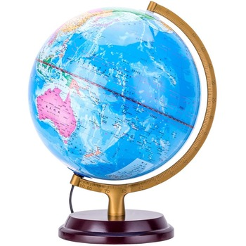 25CM hd LED desk lamp lighting for Chinese and English students with a globe office decor  globe world map  home office