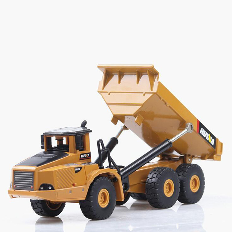 20CM 1/50 Scale Truck Model Die-cast Alloy Metal Car Auto Tractor Articulated Dump Excavator Toy Engineering For Kids Collection