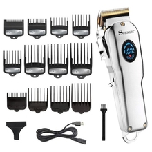professional barber hair clipper men hair trimmer LCD electric hair cutting machine titanium blade haircut usb rechargeable