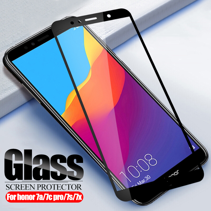 Protective Glass For huawei Honor 7A 7C Pro 7X Tempered Glass on honor7a honor7c 7 A C X A7 C7 7apro 7cpro Screen Protector Film(China)
