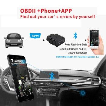 KW902 V12 ODB2 Мини Bluetooth адаптер сканер для Android ODB 2 Чтение код неисправности автомобиля диагностический сканер инструмент
