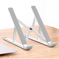 SOONHUA Portable Adjustable 6 Heights Laptop Stand Desktop Ventilated Cooling Holder Folding Ultra For MacBook Up To 15.6 Inch