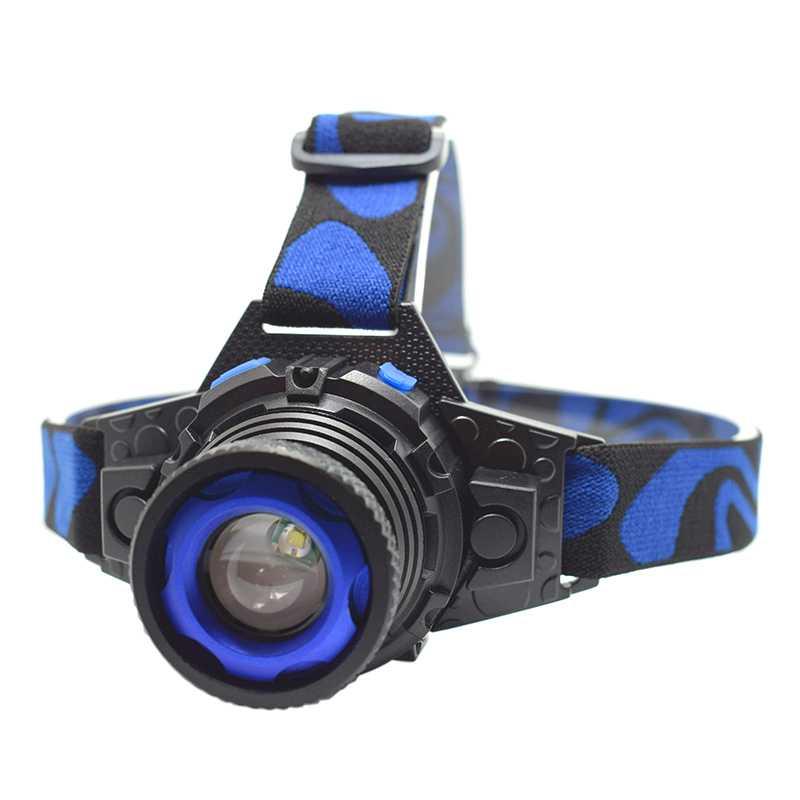 High Power Head Lamp Zoom Headlight Waterproof Headlamp Rechargeable Flashlight Forehead For Fishing Flashlights Head Running
