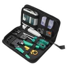 Kit de herramientas de reparación de ordenador de red LAN Red de mantenimiento de reparación de cables juego de herramientas de mano Crimper Cat5 RJ45 RJ11 RJ12