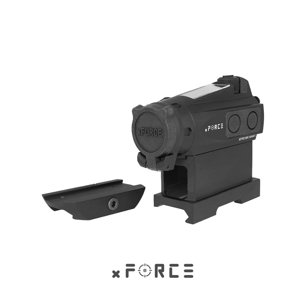 XFORCE XTSP Solar Red Dot Sight With Low Mount & QD Mount & Killflash / Kill Flash Buy One Get One FREE Offset Rail Mount