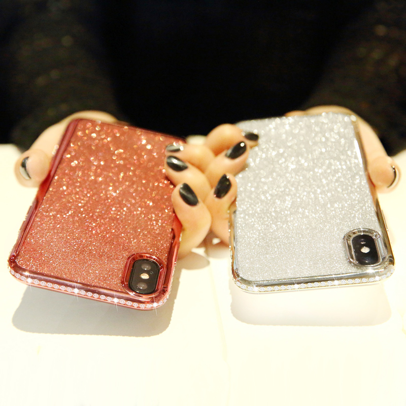 Shiny Bling Diamond Glitter Phone Protective Shell Back Cover for Samsung Models 7