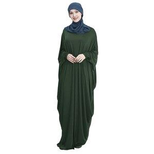 Image 4 - Hồi Giáo Tay Cánh Dơi Áo Dây Nữ Khimar Abaya Hồi Giáo Đầm Maxi Dài Jilbab Ramadan Đồng Màu Ả Rập Áo Choàng Cầu Nguyện Quần Áo Garm
