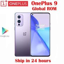 Original oficial novo oneplus 9 5g telefone celular snapdragon 888 6.55 polegada ltpo amoled 120hz 8g ram 128g rom 50mp 65w carga flash