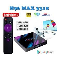 Belgium smart tv set top box H96 MAX RK3318 4g 64gb USB 3.0 media player google android support iptv ltaly m3u