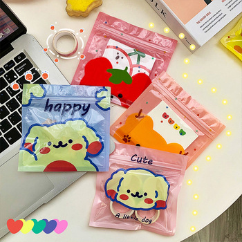 Ins Style Student Portable Mask Bag Cartoon Mask Storage Box Flip Dust Respirator Buggy Bag Oxford Cloth Cute Mask Holder image