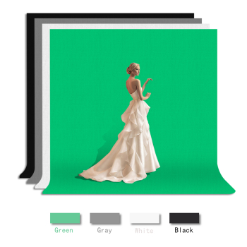 1.6*3m Photography Background Studio Green Screen Chroma key Background Non-Woven Fabric Backdrop Cloth 4 Color for Video Photo nostalgic style flax cloth photography background accessories for fruit food tabletop shooting studio photo backdrop decorations