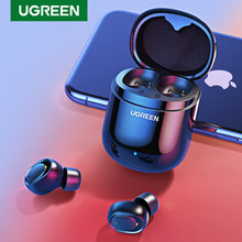 Ugreen Bluetooth Earphone 5.0 Tws Benar Earbud Nirkabel Stereo Handsfree In-Ear Phone Gaming Headset Olahraga(China)