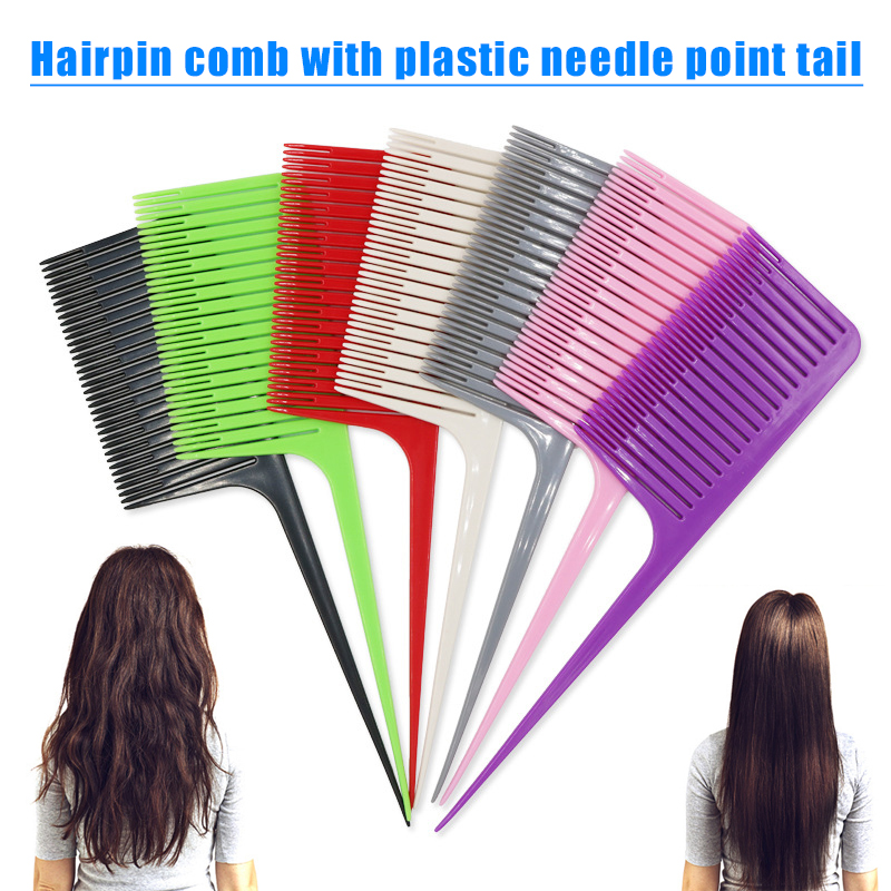 Professional One-way Sectioning Weave Highlighting Foiling Hair Comb Hairdressing Comb MH88