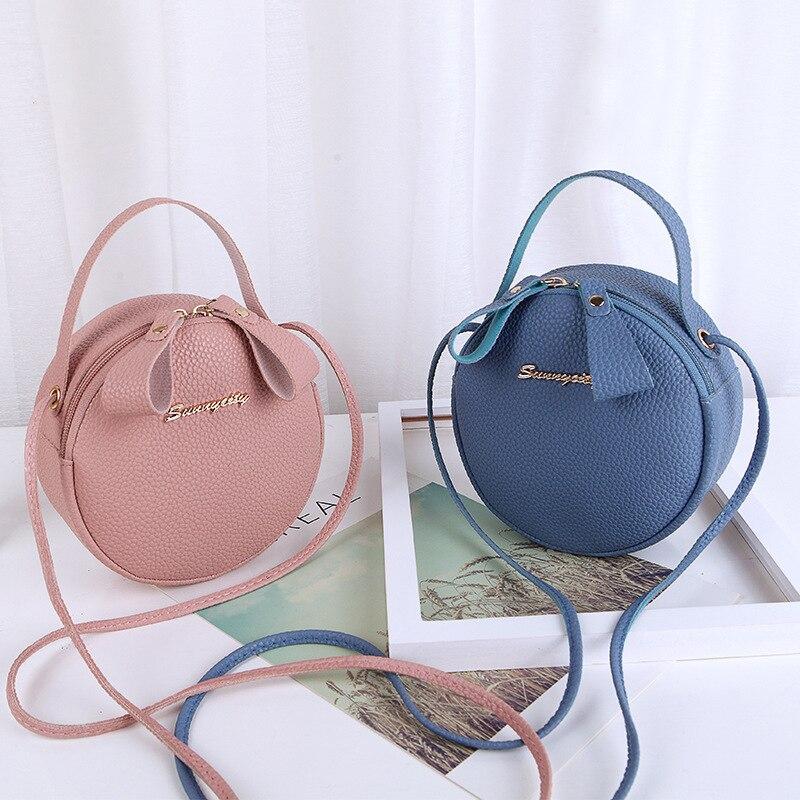 New Women Round Cross Body Bags Messenger Bag High Quality Leather Mini Female Shoulder Bag Handbags Bolsas Feminina